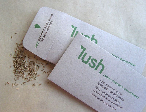 Cool business cards that people will never throw away for Seed business cards