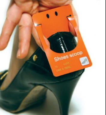 shoe scoop business card