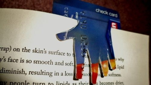 plastic card bookmark