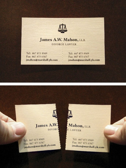tear apart business card