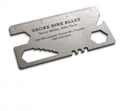 bike tool business card